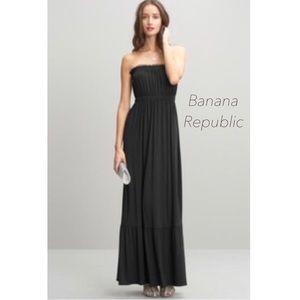 Banana Republic Strapless Maxi Dress XSPetite